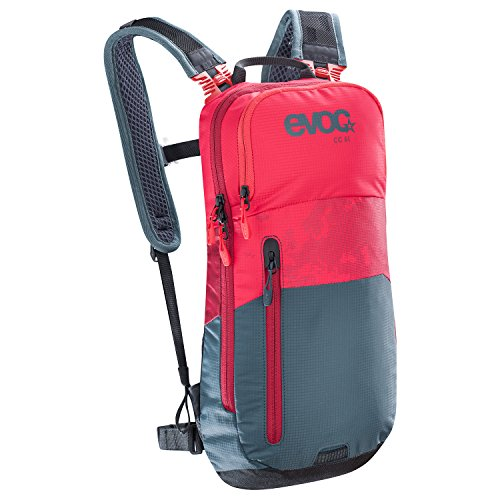 EVOC CC 6l Green,Red backpack - Backpacks (Green, Red, 100 D, Unisex, Front pocket, Cell phone pocket, Zipper)