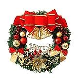 Ghirlanda di Natale 36cm con Natale Ciondoli in Metallo Corona Appendino...