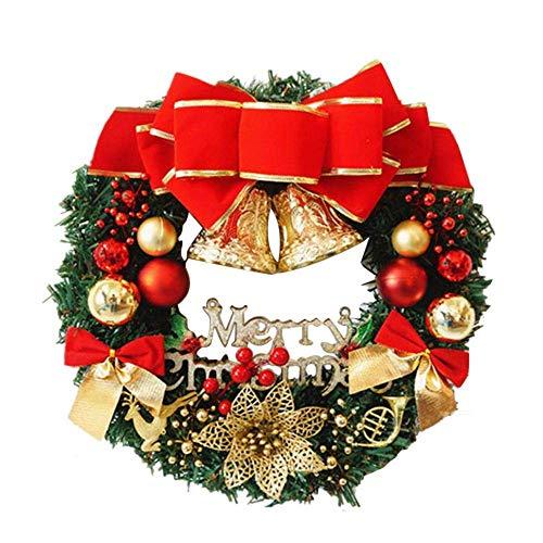 Ghirlanda di Natale 36cm con Natale Ciondoli in Metallo Corona Appendino Gancio Festival...