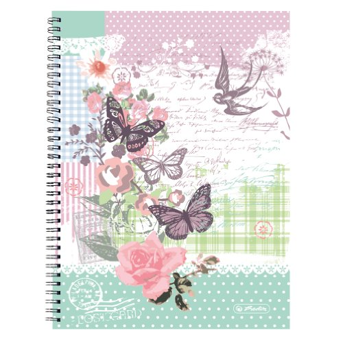 herlitz-spiralblock-a4-kariert-mit-2-randern-5-er-pack-motiv-ladylike-butterfly