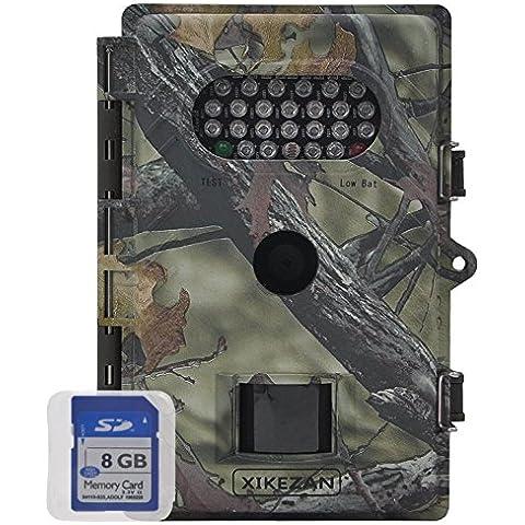 xikezan no/baja resplandor impermeable juego & Trail Caza Cámara 8Mp 720P HD visión nocturna por infrarrojos 1año de garantía del