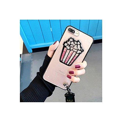 Popcorn Glitter souple TPU Téléphone Shell pour iPhone avec Longe 6s / 6 4,7 pouces a for iphone 6s