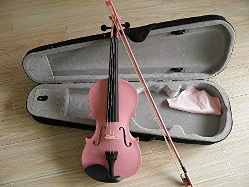 XUJJA Rosa Geige voll mit rosa Kastenbogen 4/4 3/4 2/4 1/4 1/8 XUJJA ( Color : Pink , Size : 1/4 )