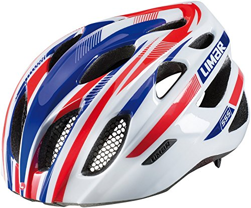 Limar casco bicicletta 555, Unisex, Fahrradhelm 555, White Blue Red, L