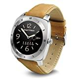 LENCISE Curved 1.54inch IPS 3D HD Screen Smart Watch Mtk2502 Real Heart Rate Monitor Bluetooth 4.0 Genuine Leather Strap
