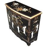 Chinoise armoire de laque noire
