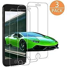 [3 Unidades] Protector de Pantalla para iPhone 7/ 8 / 6s / 6 , Luckyer Cristal Vidrio Templado Película Protectora Protector Anti-Scratch[9H][2.5D] Flim Protection