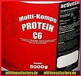 Protein 90 5kg Eiweiß Muskelaufbau 5000g Erdbeere(11 Euro/kg)