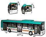 Bus - Irisbus Citelis - Auto Modell Maßstab 1/43 - Türen lassen sich Öffnen - mit individiuellem Wunschkennzeichen - Spielwelt Spielset - Autobus Busse - Reisebus - für Kinder / Deko - zum Spielen aus Plastik / Kunststoff - Linienbus / Stadtbus