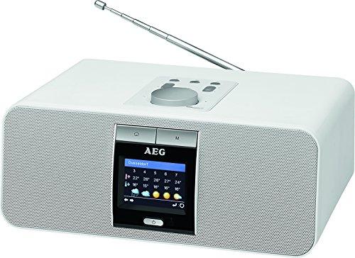 AEG IR 4468 BT Internet-Stereoradio Bluetooth USB-Anschluss PLL-RDS-UKW Radio Fernbedienung Weckfunktion weiß