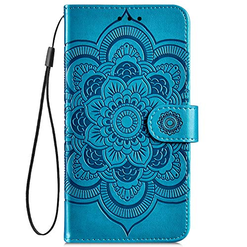IKASEFU Compatible with iPhone 7//8 Case Emboss mandala Floral Pu Leather Wallet Strap Case with Card Holder Slots Shockproof Magnetic Kickstand Stand Feature Folio Flip Book Protective Cover,gray