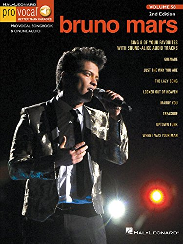 Bruno Mars (Book/Online Audio) (Pro Vocal Men's Edition, Band 58) (Bruno Mars Sheet Music)