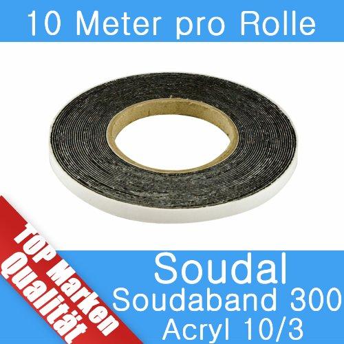 Soudal Soudaband Acryl 300 Abdichtband 10m Rolle 10/3