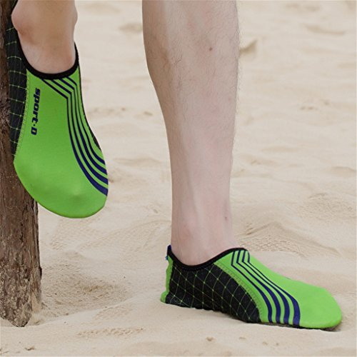 Blion Strandschuhe Aquaschuhe Surfschuhe Barfußschuhe Wasserschuh Schwimmschuhe Badeschuhe für Damen Herren Kinder 04 Grün