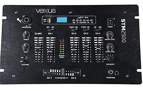 Vexus STM2500 Table de mixage 5 canaux Bluetooth USB MP3 EQ Phono