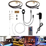 Bett Licht , Guaiboshi Bewegung Aktiviert Bett Licht 2 x 1.2m(7.87ft) LED Streifen Licht Bewegungsmelder Nachttischlampe mit 44-Tasten Infrarot Controller Bett led beleuchtung(EU-Stecker)