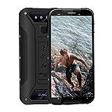 CUBOT Quest Lite Télephone Portable Incassable Débloqué 4G, 2019 Smartphone Pas Cher Résistant IP68 Etanche Antichoc Mobile 3+32Go 2.0GHz Android 9 Dual Nano SIM 5,0 Pouce Type-C GPS Compas NFC - Noir