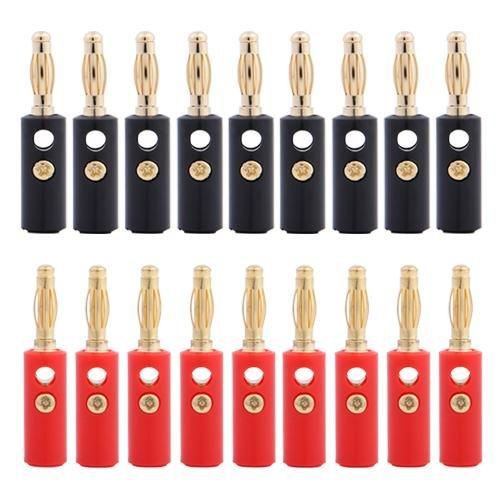20X 4mm Bananenstecker Banane Lautsprecher Stecker Rot
