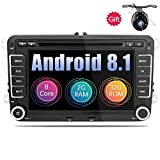 Eunavi 2DIN Android 7.1Car audio autoradio GPS radio touch screen lettore DVD per VW Golf 6polo Bora Jetta Passat B6Tiguan Skoda Octavia 5g OBD