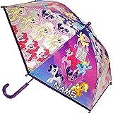 Unbekannt 2 Stück _ Regenschirme / Kinderschirme - My Little Pony - Pferde & Einhorn - inkl. Name - durchsichtig & transparent - Ø 75 cm - durchscheinend - klar - Kinde..