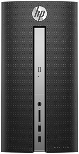 HP Pavilion 570-a058ng Desktop PC (Intel Celeron J3355, 8GB RAM, 128GB SSD, 1TB HDD, Windows 10) Schwarz