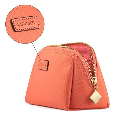 2032d0e428d98 ... CHICECO Nylon Klein Kosmetiktasche Damen Schminktasche für Handtasche  Makeup Tasche - Schwarz Wassermelonenrot-Klein ...