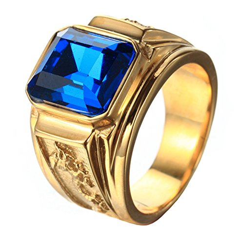 Gents Gold Ring with Stones Amazon