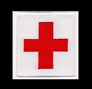 La Croix-Rouge-à coudre-Badge/Iron On Patch Dimensions: 5,5 cm x 5,5 cm