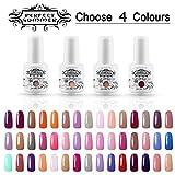 Perfect Summer Pick Any 4 Colours Gel Nail Polish Kits Soak Off UV LED Colour Varnish Shiny Classic Lacquer Nail Salon Set 8ml