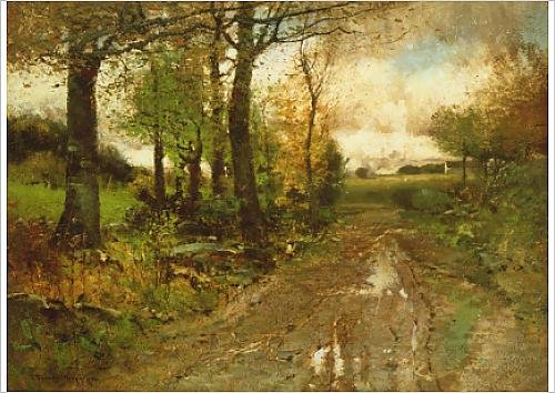 fine-art-print-of-road-through-the-woods-oil-on-canvas