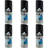 6 x Adidas Dry Ice Dive Deospray 150ml 48H Schutz