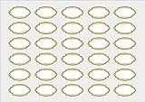 das-label 30 x ovale Etiketten | Design No.1 oval small | viele verschiedene Farben | 50 x 28 mm | Haushaltsetiketten | Gewürzetiketten | Scrapbook | Aufkleber | Adressaufkleber | Marmeladenetiketten (gold, blanko)