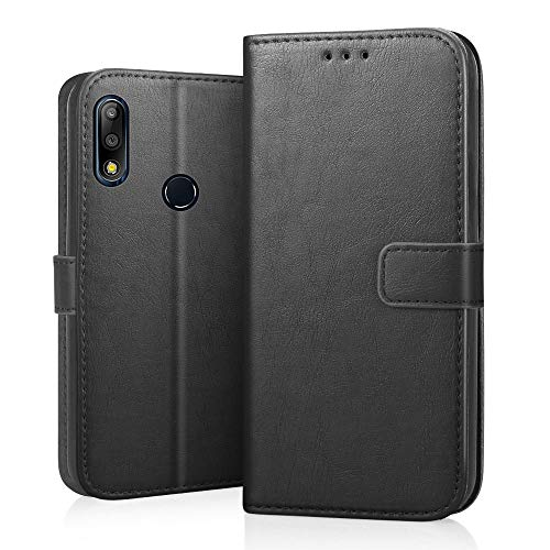 RIFFUE Asus Zenfone Max M2 Pro Hülle, Handyhülle Asus Zenfone Max Pro M2 ZB631KL Leder PU Vintage Schutzhülle Brieftasche Case Cover Standfunktion 6.26