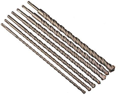 7er Set Betonbohrer mit SDS-Plus Aufnahme Betonbohrer 10,12,14,16,20,22 und 25 x 400 mm