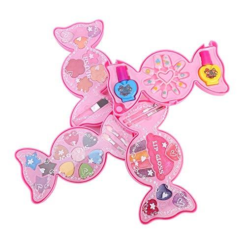 Kosmetik Spielzeug Mädchen, Kinder Make-up-Zubehör Schönheit Kosmetik-Set mit Kosmetiketui