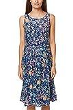 ESPRIT Collection Damen Kleid 068EO1E026, Blau (Navy 400), Small
