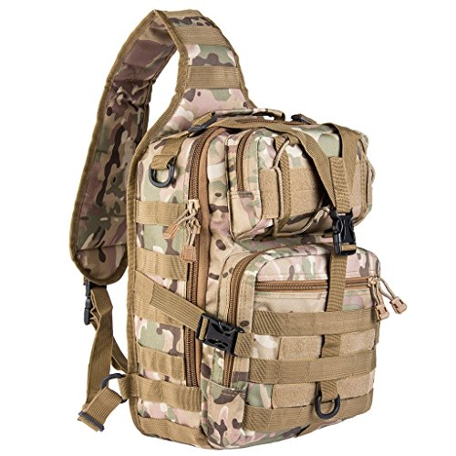 riavika 20L klein Tactical MOLLE Sling Pack-Kompakt und vielseitig-Schulter-Rucksack, Pack, Pack, oder, Hand-Military Assault Stil Rucksack. ACU Camouflage -
