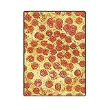 YISUMEI Decke 150x200 cm Kuscheldecken Sanft Flanell Weich Fleecedecke Bettüberwurf Lustiges Pizza-Design