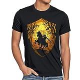 style3 Ride through Hyrule Herren T-Shirt, Größe:S;Farbe:Schwarz