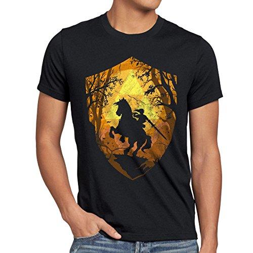style3 Ride through Hyrule Herren T-Shirt, Größe:XL;Farbe:Schwarz