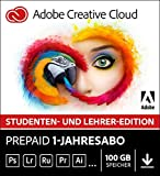 Adobe Creative Cloud | Student und Teacher | 1 Jahreslizenz | PC/Mac | Online Code & Download