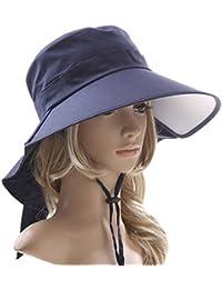 Heall Sombrero Mujer Verano ala Ancha Gorra de Protección Solar Sombrero  Plegable 0f843089bda