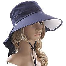 Heall Sombrero Mujer Verano ala Ancha Gorra de Protección Solar Sombrero  Plegable f39afbf6052
