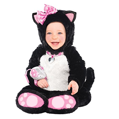 12 Kostüm Katze Schwarze Monats - Plüsch weich Baby Babyschuhe Katze Kostüm Kleinkind Kostüm Einteiler Outfit 12-18 Monate Weihnachten Geschenk - 12 - 18 Months