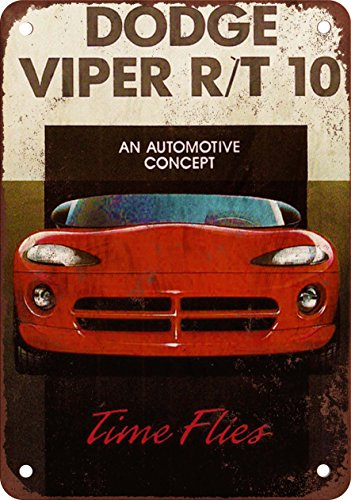 1992-dodge-viper-r-t-10-reproduccion-de-aspecto-vintage-metal-sign