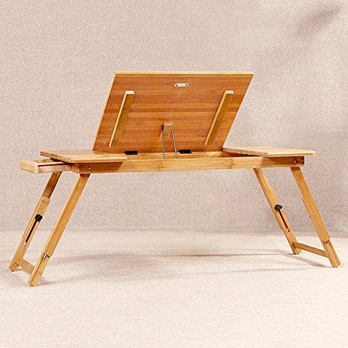 ZHIRONG Klapptisch Portable Laptop Tisch, Arbeitstisch, höhenverstellbar, mit Schubladen, 72 * 34cm (Klapptisch Portable)