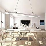 OOFAY LIGHT LED Pendelleuchte Rechteckiger Design Modern Hängeleuchte Hängelampe Kronleuchter Decke Beleuchtung Leuchte Esszimmerleuchte Esstischleuchte Aluminium Acryl Lampe 46W Neutrales L