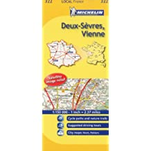 Michelin Map France: Deux-svres, Vienne 322