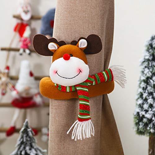 Myfilma Weihnachten Vorhang Schnalle Halter Clip Schnalle Raffhalter Dekorationen Room Living Xmas Puppe Vorhang Umarmung Schnalle
