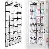 Ankamal Elec Schuhe Racks über Tür Lagerung, 24 Große Netztaschen Heavy Duty Hanging Halter Tidy Organizer